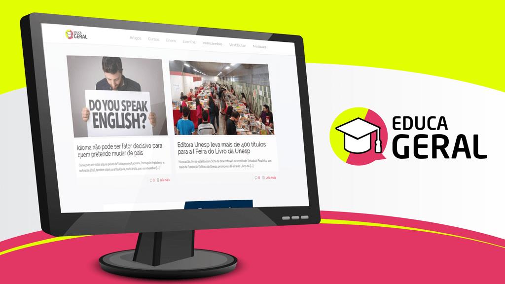 Educageral: portal de notícias de educação está no ar - Grupo Raiz